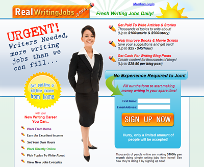 Real Writing Jobs freelance from home opportunities